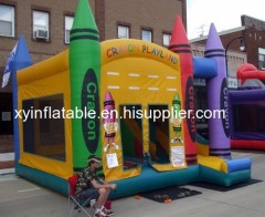 Lápiz de colores playland combo inflable bouncer