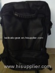 Large capacity black backpack