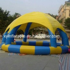 0.6mm PVC Inflatable Pool With Dome Tent