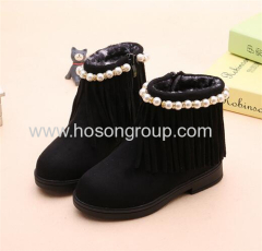 Children tassels and beating fashion winter boots