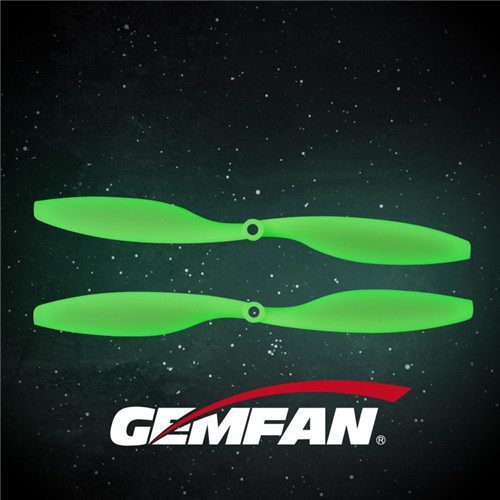 1045 2 blades ABS Fluorescent green white Propeller For Multirotor