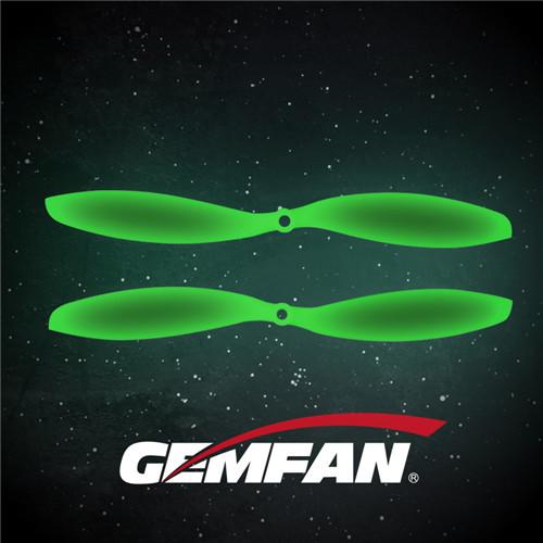 2-blade 1147 ABS Fluorescent green white Propeller For plane