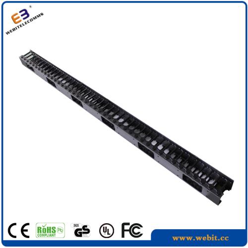 42U plastic rings vertical cable organizer