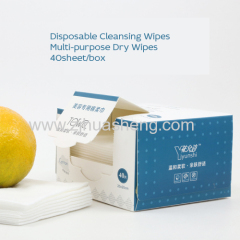 Natural Disposable Dry Cleansing Wipes