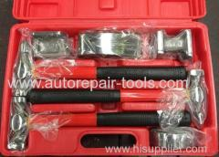 7PC Auto Body Hammer and Dolly Kit