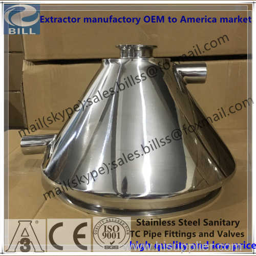Customs Stainless Steej Sanitary Jacketed Tri Clamp Concentric