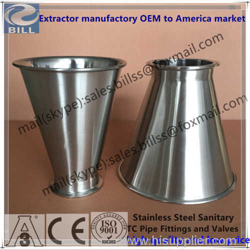 Sanitary Stainless Steel Tri Clamp Reducer Hopper with