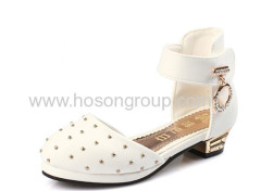 Kids studded ankle strap dress shoes