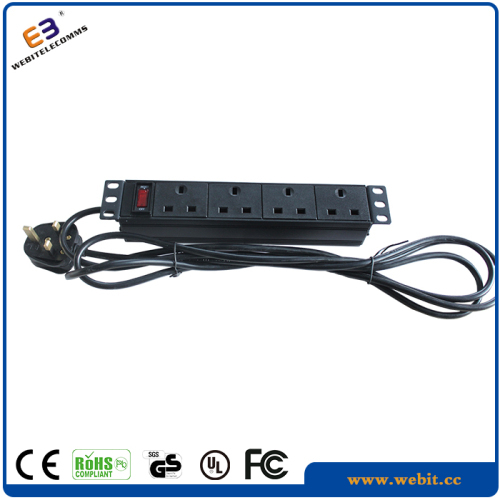 "10"" 4 ways UK PDU socket"