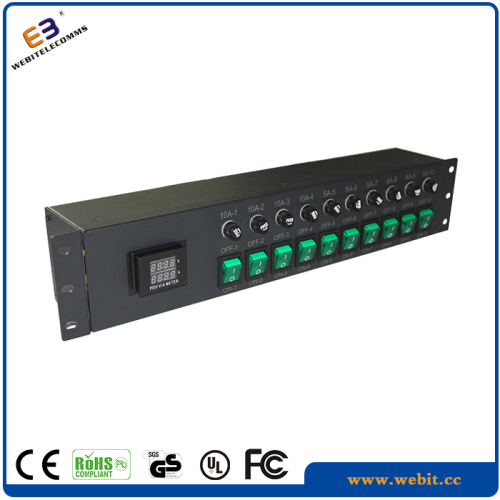 "19"" horizontal 2U IEC PDU"