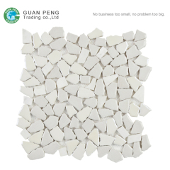 White Swimming Pool Tile Irregular Mosaic Elephant Decoration Tiles