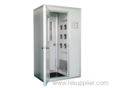 Automatic pharmaceutical cleanroom mist shower