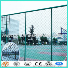 PVC coated temporary chain link fence