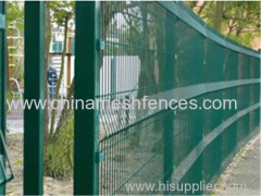 PVC Coated Welded Wire Mesh Fence Curved 3D Welded Wire Fence