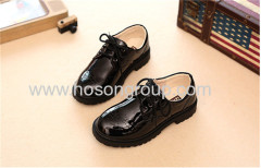 Fashion students round toe lace up kids shoes