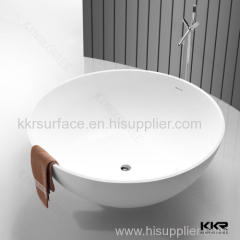 Top quality CE SGS freestanding solid surface soaking bathtub