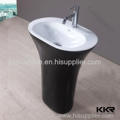 Hot sale solid surface freestanding garden wash basin