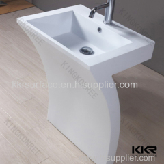 10 years warranty CE SGS freestanding artificial stone basin factory
