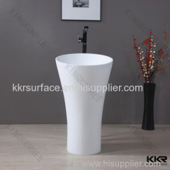 Manufacturer supplier fancy stone solid surface modern basin