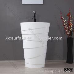 Acrylic stone freestanding type wash basin for bathroom