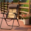 Adjustable Folding Steel Arm Sling Garden Chair Beach Chair Padded