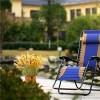 Lounge Patio Zero Gravity Folding Reclining Beach Chair Oxford Mixed