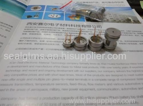 Glass to metal seal for sensor