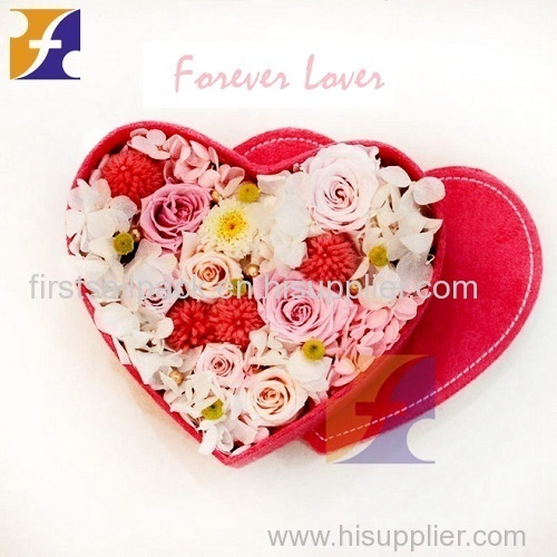 Heart Shaped Flower Packing Box/ Handmade Chocolate Packaing Hat Box Gift Box With lid