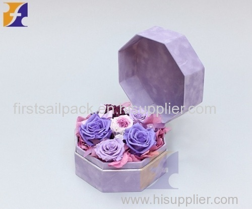 Octagon shaped flower box gift box