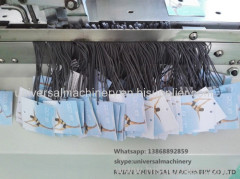 Full Automatic Hangtag Hole Punching and eyeleting machine/hang tag eyeleting machine