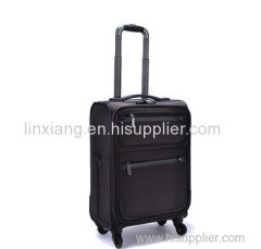 Men and women black spinner hard travel trolley luggage bags cases