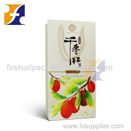 New fancy custome logo printed shopping bag gift bag paper bag with handle