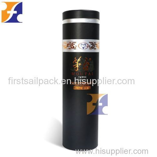Single Wine Bottle Wine glasses Packaging Paper Round Tube Box OEM