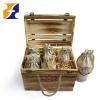 OEM Wooden wine case box Wooden wine bottle holder for 6 bottle wine storage box TOTALLY CUSTOMIZED
