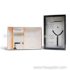 Wine Opener Boxes With Transparent Plastic PVC Window Wine Bottle Opener set Box