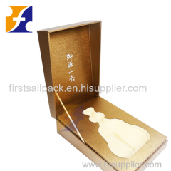 Custom luxurious paperboard gift boxes for wine bottle packaging Cognac Champagne Liquor Tequila WHisky