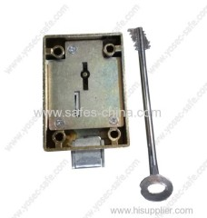 8 lever double bit key lock for free standing home safe M-483K with 120mm key length