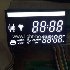ultra white customized 7 segment led display for multifunction digital oven timer control system