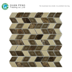 Dinning Room Wall Ceramic Tile Mix Stone Mosaic Tiles