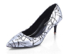 Pointy toe checkered ladies dress shoes