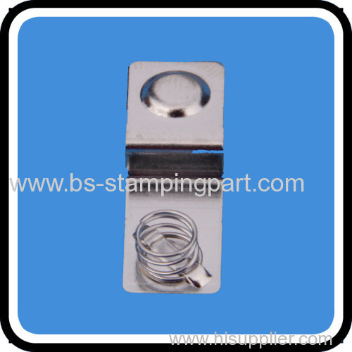 electrical metal stamping battery contact stainless steel battery contact