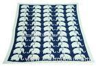Elephant Pattern Knitted Knitted Wool Blanket For Home Decoration