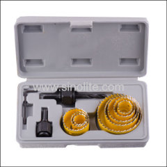 11pcs Milled Teeth Hole Saw Set 19-22-29-32-38- 44- 51- 64mm