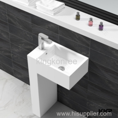 Bathroom popular design pedestal wash basin for dining room