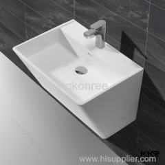 Anti-yellowing resin solid surface counter top basin