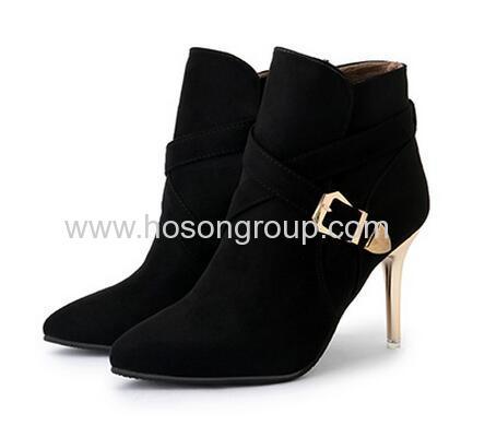 Women gold stiletto heel women ankle boots