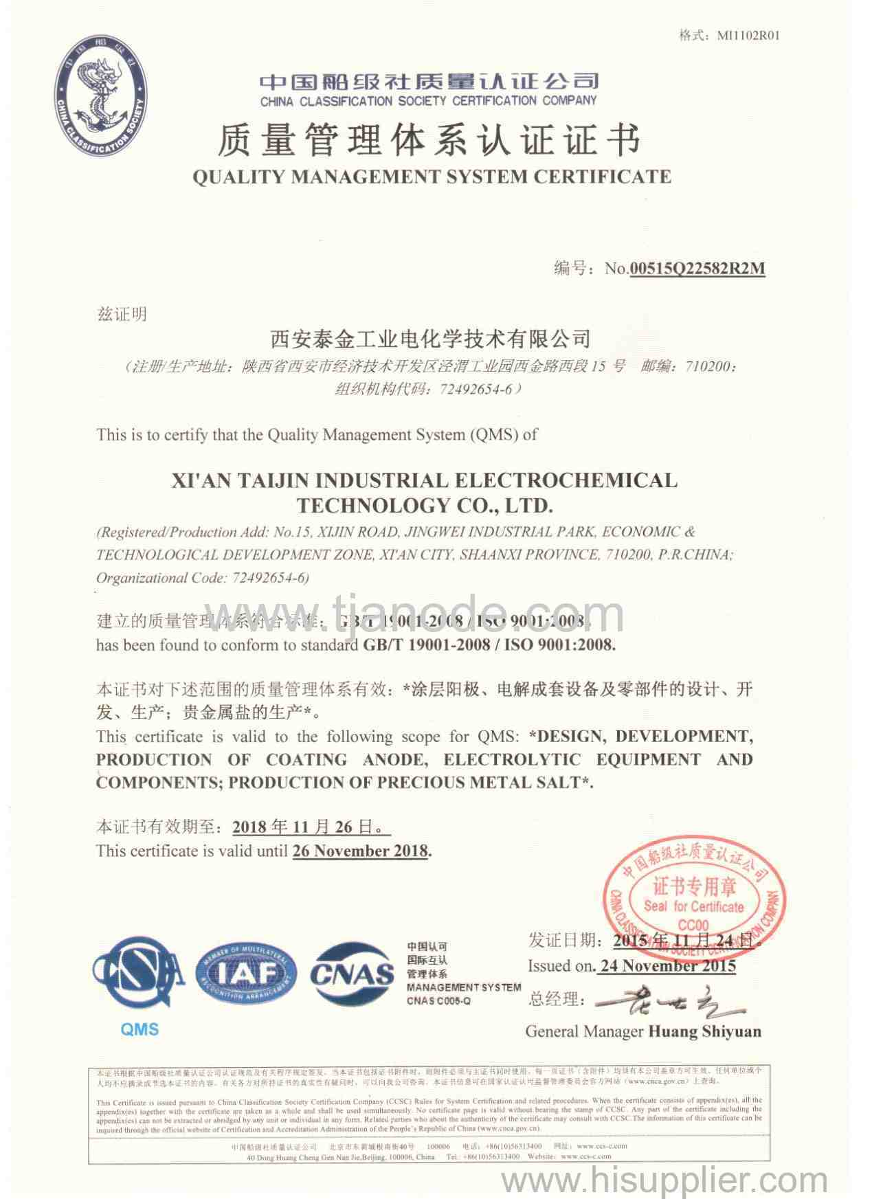 The 3rd Party Quality Test Certificate of MMO Mesh Ribbon