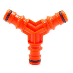 Plastic 3 way water hose pipe fitting