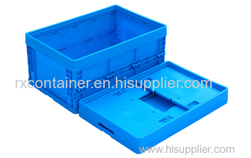 Plastic starage folding box