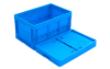 Plastic storage folding box